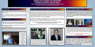 AMERICAN ACADEMY OF PEDIATRICS PARENT ADVISORY GROUP (PAG)