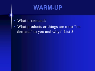 Chapter 4: Demand Section 1