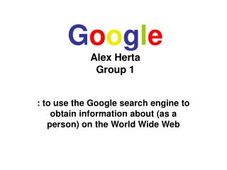 Google Alex Herta Group 1