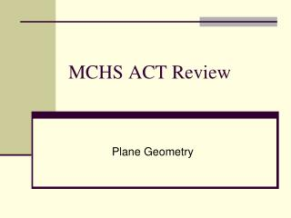MCHS ACT Review
