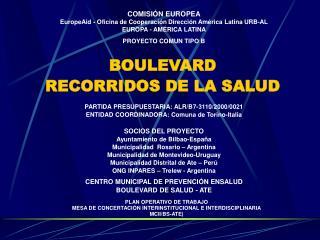 COMISIÓN EUROPEA EuropeAid - Oficina de Cooperación Dirección América Latina URB-AL