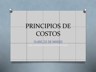PRINCIPIOS DE COSTOS