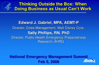 Thinking Outside the Box: When Doing Business as Usual Can't Work