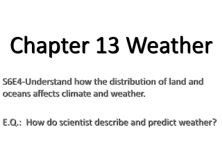 Lesson 3: Types of weather forecasting