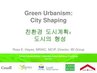 Green Urbanism:  City Shaping