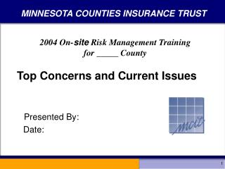 MINNESOTA COUNTIES INSURANCE TRUST
