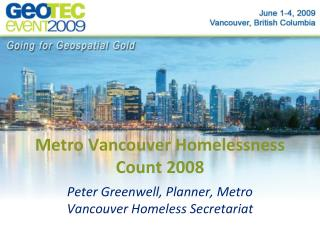 Metro Vancouver Homelessness Count 2008