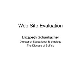 Web Site Evaluation