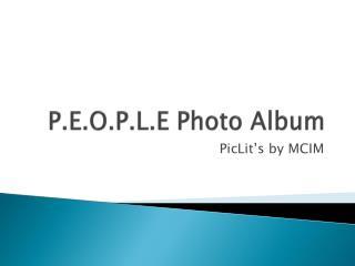 P.E.O.P.L.E Photo Album
