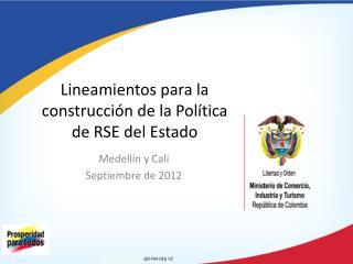 Lineamientos para la construcción de la Política de RSE del Estado