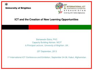 ICT  and the Creation of New Learning Opportunities