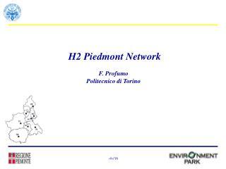 H2 Piedmont Network F. Profumo Politecnico di Torino