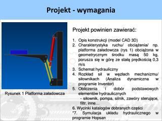 Projekt - wymagania