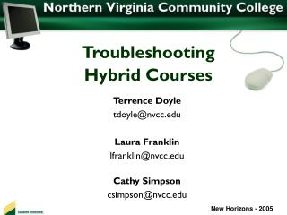 Troubleshooting  Hybrid Courses