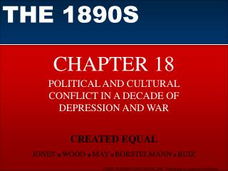 POLITICAL AND CULTURAL CONFLICT IN A DECADE OF DEPRESSION AND WAR