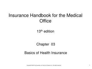 Chapter  03 Basics of Health Insurance