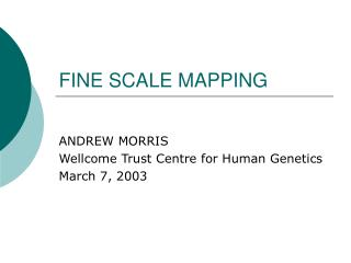 FINE SCALE MAPPING