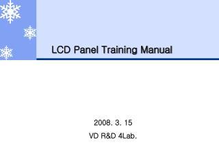 LCD Panel Training Manual
