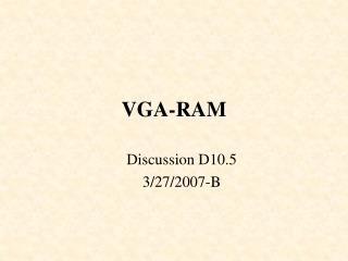 VGA-RAM