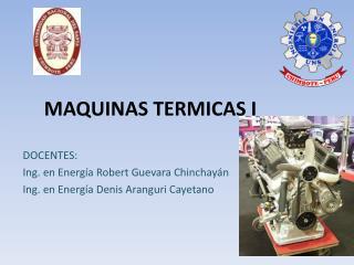 MAQUINAS TERMICAS I