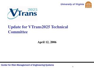 Update for VTrans2025 Technical Committee