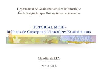 -  TUTORIAL MCIE - Méthode de Conception d'Interfaces Ergonomiques
