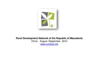 Establishing the Rural Development Network of the  Republic of Macedonia