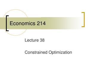 Economics 214