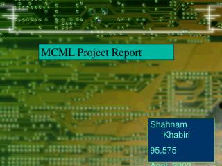 MCML Project Report