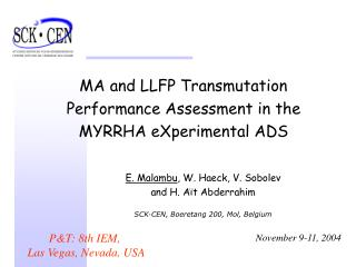 MA and LLFP Transmutation Performance Assessment in the MYRRHA eXperimental ADS