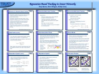 Reputation Based Tracking in Sensor Networks Tanya Roosta, Marci Meingast, Shankar Sastry