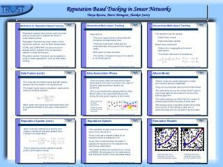 Reputation Based Tracking in Sensor Networks Tanya Roosta, Marci Meingast, Shankar Sastry
