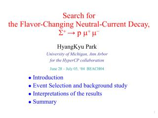 Search for the Flavor-Changing Neutral-Current Decay, S +  → p  m +  m -