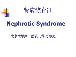 肾病综合征 Nephrotic Syndrome