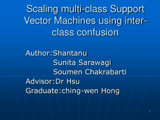 Scaling multi-class Support Vector Machines using inter-class confusion