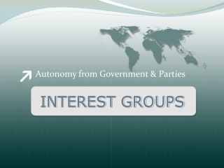 Interest Groups, Public Opinion, and Political Parties