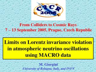 Limits on Lorentz invariance violation in atmospheric neutrino oscillations using MACRO data