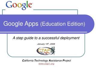 Google Apps  (Education Edition)