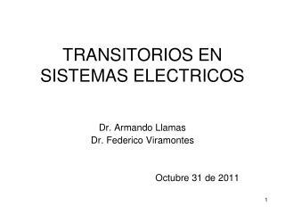 TRANSITORIOS EN SISTEMAS ELECTRICOS