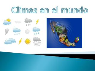 Climas en el mundo