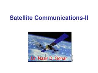 Satellite Communications-II