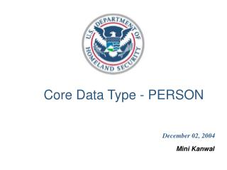 Core Data Type - PERSON