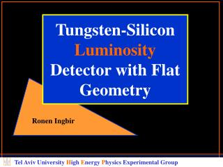 Tungsten-Silicon  Luminosity Detector with Flat Geometry