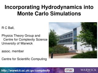 Incorporating Hydrodynamics into Monte Carlo Simulations