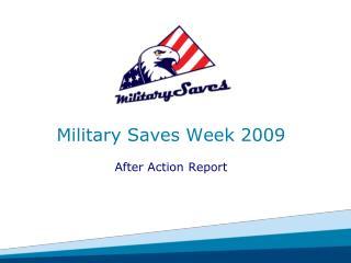 Military Saves Week 2009