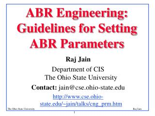 ABR Engineering: Guidelines for Setting ABR Parameters