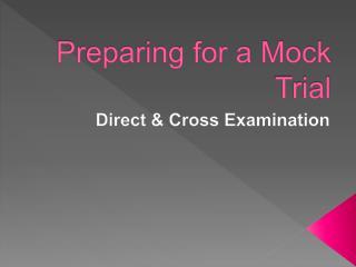 Preparing for a Mock Trial