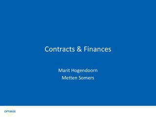 Contracts & Finances