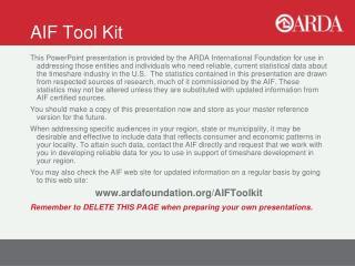 AIF Tool Kit