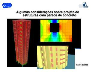 Algumas considerações sobre projeto de estruturas com parede de concreto